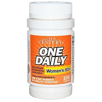 21st century one daily, woman's 50+, multivitamin, tablets, 100 ea