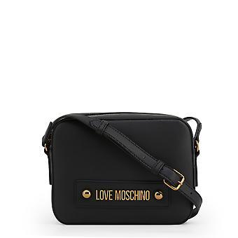 Love Moschino Original Mujeres Primavera/Verano Crossbody Bolso Negro Color - 71342