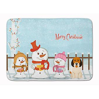 Merry Christmas Carolers Petit Basset Griffon Veenden Machine Washable Memory Fo