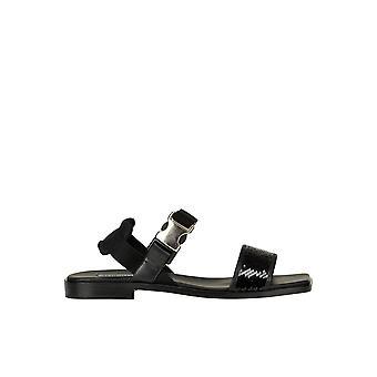 Alberto Gozzi Ezgl249021 Women's Black Sequins Sandals