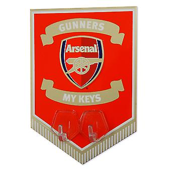 Arsenal FC Official Football Gift Metal Pennant Key Hook Sign