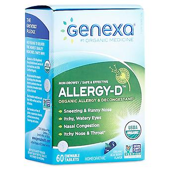 Genexa allergy-d for adult, chewable tablets, acai berry flavor, 60 ea