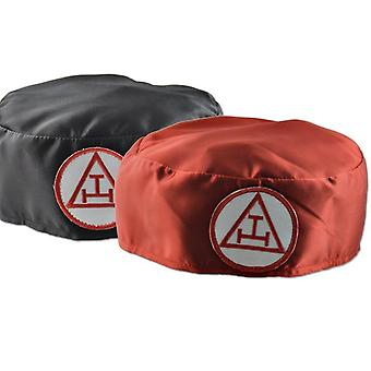 Royal arch ceremonial soft hat cap red triple tau