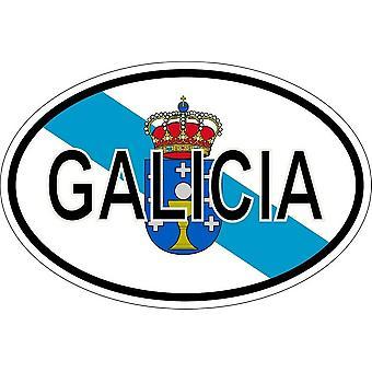 ملصقا بيضاوي االبيضاوي رمز العلم البلد غاليسيا
