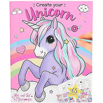 Depesche Ylvi And The Minimoomis Create Your Unicorn Colouring Book - 10534_a