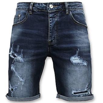 Shorts - Jeans Kort - 9082 - Blå