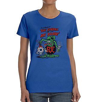 Rat Fink I Caught The Eyeball Women's Royal Blue T-shirt