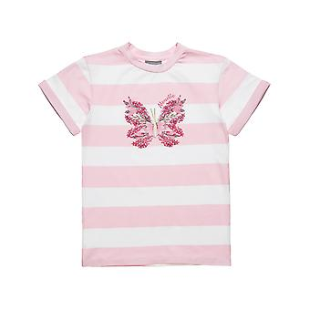 Alouette Girls' Striped T-Shirt With Flute Drawing