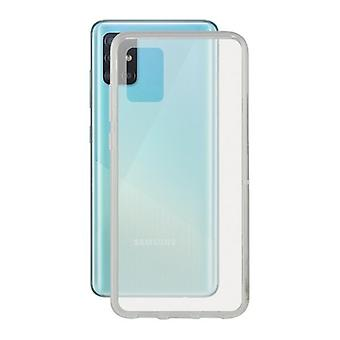 Cover for Mobile with Samsung Galaxy A51 KSIX Flex Transparent TPU Edge