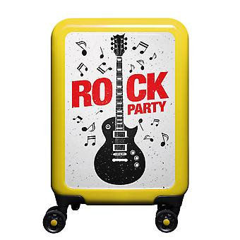 meinTrolley Rockparty S, 4 rollen, 55 cm, 32 L, Geel