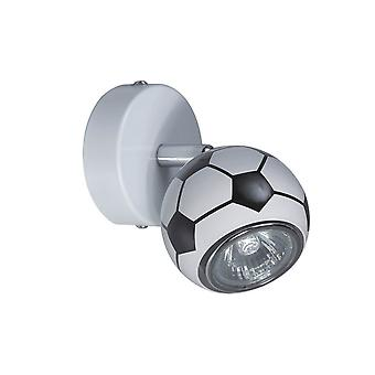 Anulika Wall Lamp Cor preta, metal branco, W8xD8xH13 cm