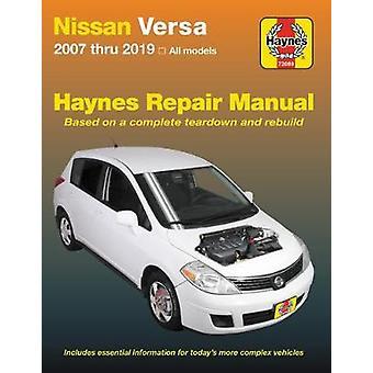 Nissan Versa Haynes Repair Manual - 2007 Thru 2019 - All Models by Edi