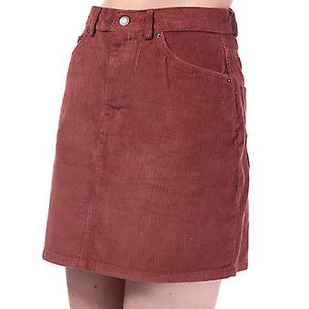 Women's Vero Moda Karina Cord Skirt in Bruin