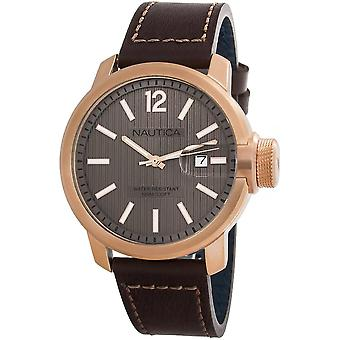 Nautica Watch NAPSYD005 - Läder Gents Quartz Analog