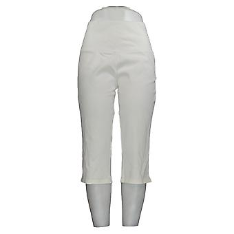 Women with Control Women's Pants Tummy Control Pedal Pushers White A305386