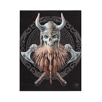 Something Different Viking Skull Canvas Plaque