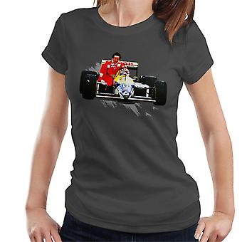 Motorsport Images Nelson Piquet Honda Gives Alain Prost A Lift German GP Women's T-Shirt