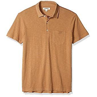 Goodthreads Men's Lightweight Slub Pocket Polo Shirt, Tan, X-Large
