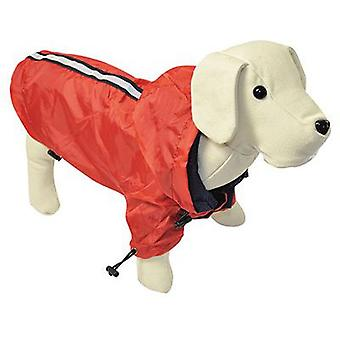 Nayeco Red reflecting raincoat for dogs 40 cm (Dogs , Dog Clothes , Raincoats)