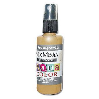 Stamperia Aquacolor Spray 60ml Pearl Gold