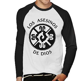 Mayans M.C. Motorcycle Club Los Asesinos De Dios Logo Men's Baseball Long Sleeved T-Shirt