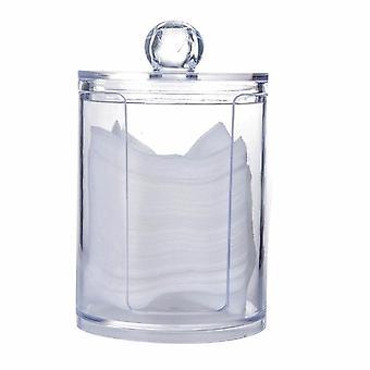 Átlátszó szervező pamut tampon tároló doboz szervező - akril pamut pad