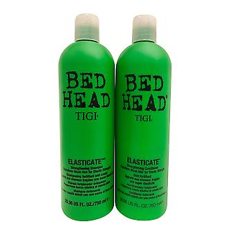 TIGI Sengehoved Elasticate Styrkelse Shampoo & Conditioner 25,36 OZ Hver