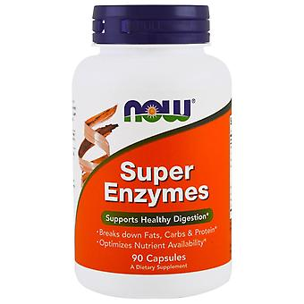 Now Foods, Super Enzymes, 90 Cápsulas
