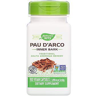 Nature's Way, Pau D'Arco Innere Rinde, 1.090 mg, 100 vegane Kapseln