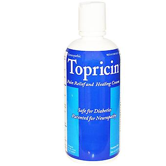 Topricin, Pain Relief and Healing Cream, 8.0 oz