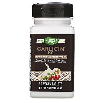 Nature's Way, Garlicin HC, 90 tabletas veganas