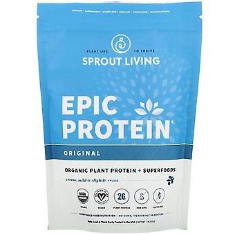 Sprout Living, Epic Protein, Organic Plant Protein + Superfoods, Original (Unfla