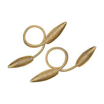 1Pair Creative Curtain Twist Tie Backs Golden 55x8.5cm
