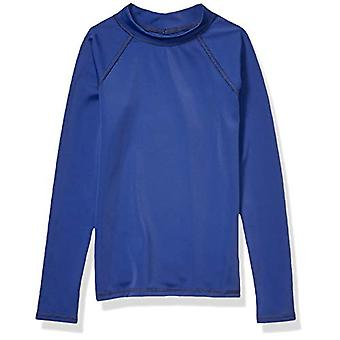 Essentials UPF 50- Big Boys' Long-Sleeve Rashguard, Navy, Medium