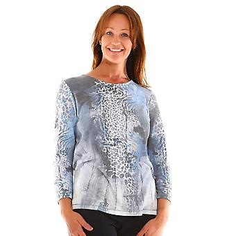 ERFO Erfo Blue And Grey Top 301200700