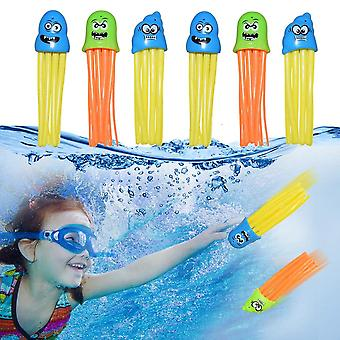 6pcs Natation Octopus Pool Diving, Octopus Play Water, Underwater Training Fun