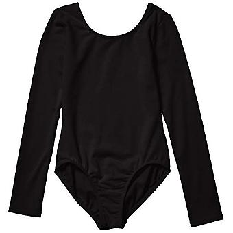 Essentials Girl's Long-Sleeve Dance Leotard, Black, Small