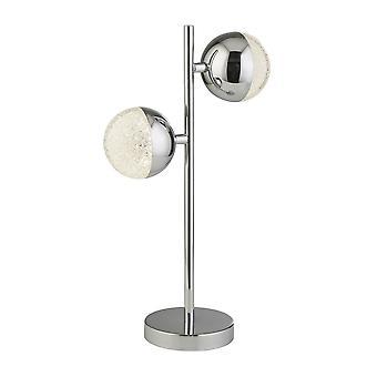 Søkelyset MARBLES - Bordlampe 2 Lys - Krom med krystall sand
