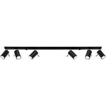 Sollux RING - 6 Light Spotlight Bar Black, GU10