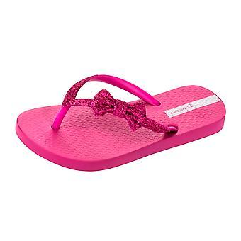 Ipanema Sparkle Bow Girls Strand Flip Flops / Sandalen - Berry