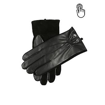 Black Touchscreen Leather Gloves
