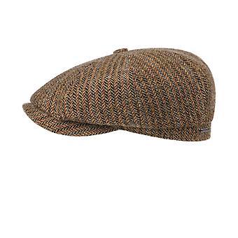Stetson Virgin Wool Herringbone Hatteras Cap