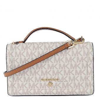 MICHAEL Michael Kors Jet Set Small Logo Smartphone Crossbody Bag Vanilla