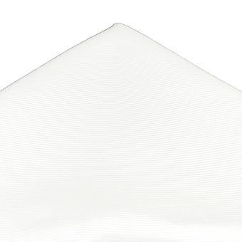 Legături Planet Plain White Silk Pocket Square Batista