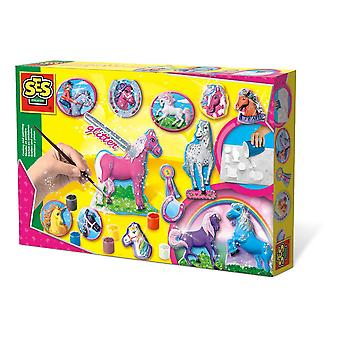 SES Creative Children's Fantasy Horse Casting and Painting Set Mixed (1155)