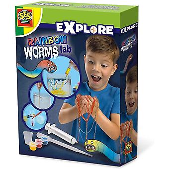 SES Creative Children's Explore Rainbow Worms Lab Experiment Kit (25111)