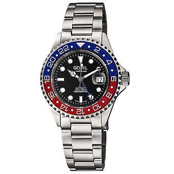 Gevril Mens 4951A Wall Street ETA 2893/2 Zwitserse automatische GMT Keramische Bezel Horloge