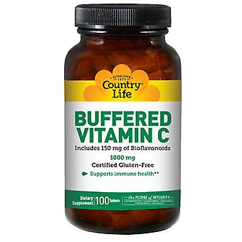Country Life Buffered Vitamin C with Bioflavonoids, 1000 MG, 100 Tabs