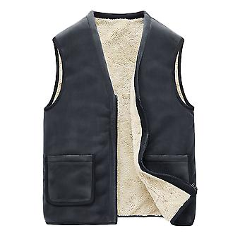 YANGFAN Men's Winter Plush V Neck Warm Vest
