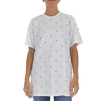 Amen Couture Acw20204001 Women's White Cotton T-shirt